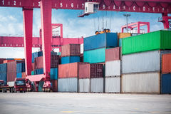 Container depot Stock Image