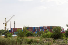 Container depot Royalty Free Stock Images