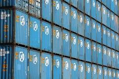 Container di HANJIN Fotografia Stock