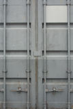 Container Doors. Cargo Container Closed Doors Front view Stock Images