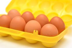 Container for eggs Royalty Free Stock Photography