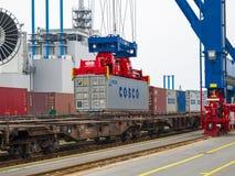Container Eindtollerort royalty-vrije stock foto