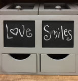 Container fill with love and smiles Royalty Free Stock Image