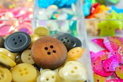 Arts and craft buttons 2 Stock Images