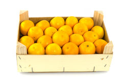 Container filled with mandarins Stock Photo