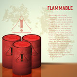 Container of flammable liquid. Red canister. Stock Image
