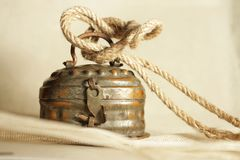 Old locked tin box royalty free stock image