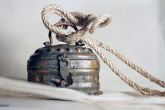 Old locked tin box royalty free stock photo