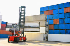 Container forklift Stock Image