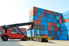 Container forklift Stock Photos