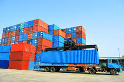 Container forklift Royalty Free Stock Photography