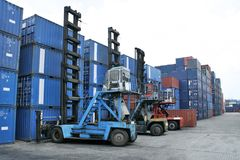 Container forklift Royalty Free Stock Photo
