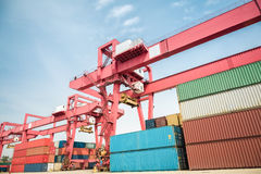 Container freight yard Stock Image