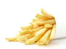 French fries. Small french fries portions within the package Royalty Free Stock Photos