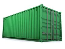 Container. 20 ft container on white background Stock Photo