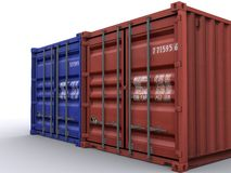 Container. 20 ft container on white background Royalty Free Stock Photo
