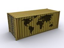 Container. 20 ft container on white background Royalty Free Stock Images