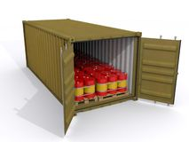 Container. 20 ft container on white background Stock Photography
