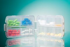 Container full of drugs Royalty Free Stock Photography