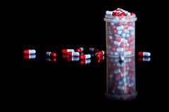 Container full of pills Royalty Free Stock Photo