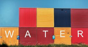 Container with graffiti in NDSM, Amsterdam stock photography