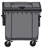 Container. Hand drawing of a garbage container Royalty Free Stock Images