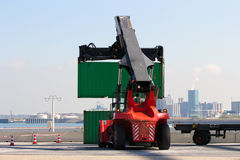 Container handler Stock Image