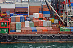 Container Handling Hong Kong Royalty Free Stock Image