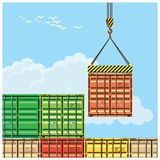 Container handling Royalty Free Stock Photo