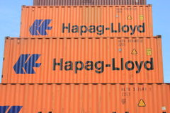 Container Hapag-Lloyd royalty free stock image