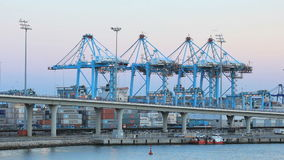 Container harbor of Algeciras, Spain Stock Images