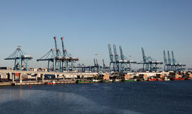 Container harbor in Algeciras, Spain Royalty Free Stock Photos