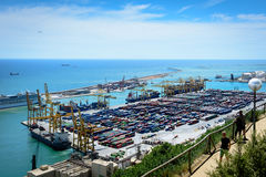 Container Harbor, Barcelona Royalty Free Stock Photos
