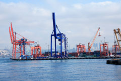 Container Harbor Stock Image