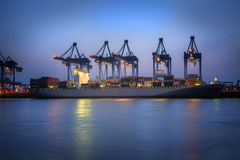 Container Harbor Stock Images