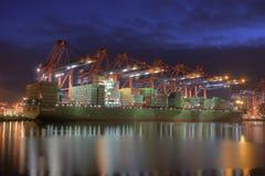 Container Harbor Stock Photo