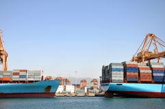 A container harbour. In Arabia Stock Photography