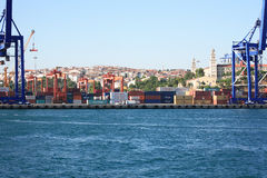 Container Harbour Stock Image