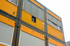 Container home. Living containers royalty free stock images