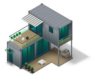 Container House Concept Royalty Free Stock Images