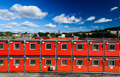 Container houses. Cargo container houses in Oslo, Norway Royalty Free Stock Photography