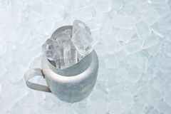 Container with ice Royalty Free Stock Photography