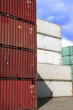 Container In Stock Stock Photo