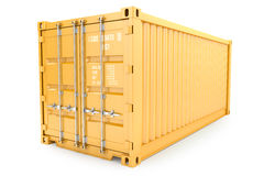 Container isolated on white background Royalty Free Stock Photography