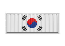 Container with Korea Flag Royalty Free Stock Photos