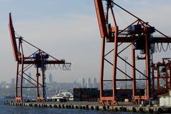 Container-lading-vervoer Stock Afbeeldingen