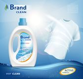 Container with laundry detergent Royalty Free Stock Images
