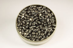 Container of Lead Air Gun Pellets Stock Photos