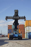Container lifter Stock Photos