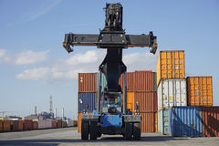 Container lifter Royalty Free Stock Photo